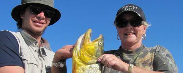 Argentina angler with caught a Golden Dorado