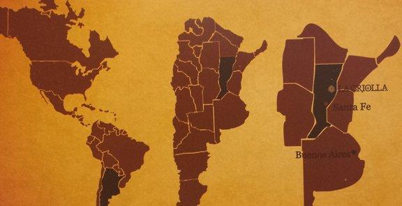 Map of the Estancia La Criolla Location